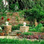 Italian Villa Brick and Trees