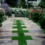 English Grass Design Walkway