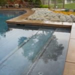 Custom Pool with Short Shrubs