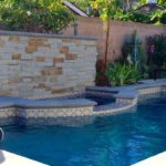 Custom Pool with Stone Details