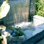Stone Water Feature and Succulents