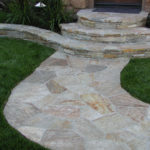 Stone stair pathway