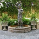 English Water Feature with Pots