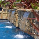 Custom Pool Stone Water feature