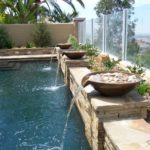 Stone Pot Water Feature Custom Pool