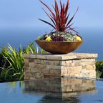 Succulent Pot Design over Pool