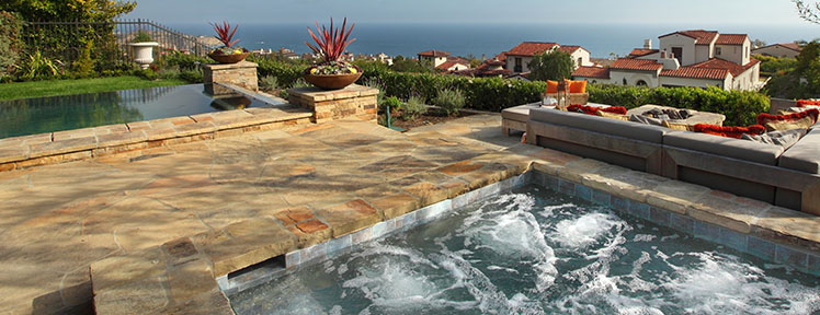 Landscape Pool and Jacuzzi